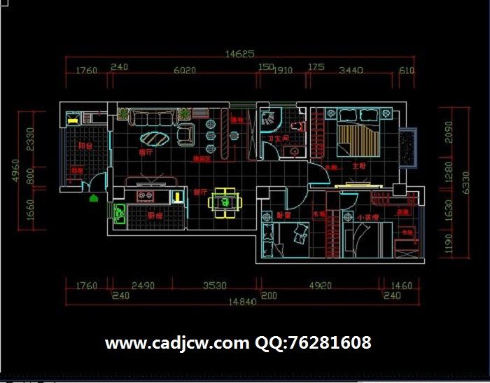cad室内设计绘图基础,平面图